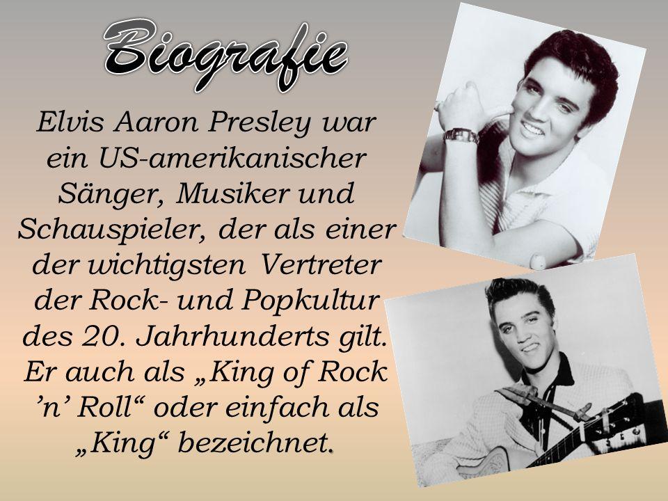 Elvis Aaron Presley war ein US-amerikanischer Sänger, Musiker und Schauspieler, der als einer der wichtigsten Vertreter der Rock- und Popkultur des 20.