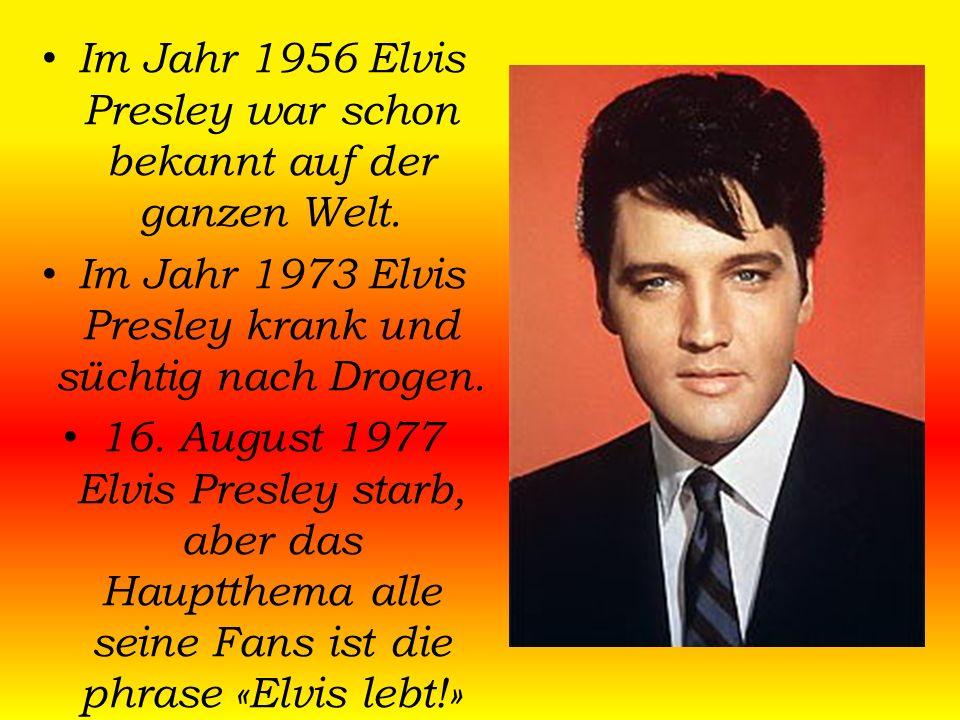 """Elvis Presley begann seine Karriere 1954 als einer der ersten Musiker der Rockabilly- Bewegung, einer Fusion von """"weißer"""" Country-Musik und """"schwarzem"""
