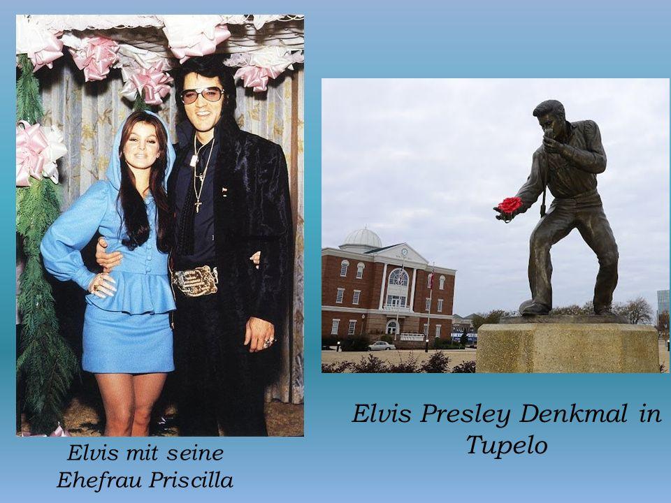 Elvis mit seine Ehefrau Priscilla Elvis Presley Denkmal in Tupelo