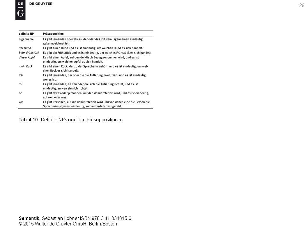 Semantik, Sebastian Löbner ISBN 978-3-11-034815-6 © 2015 Walter de Gruyter GmbH, Berlin/Boston 29 Tab.