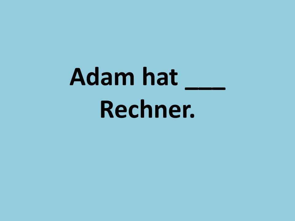 Adam hat ___ Rechner.