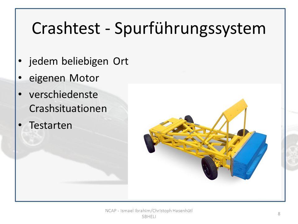 Crashtest - Spurführungssystem jedem beliebigen Ort eigenen Motor verschiedenste Crashsituationen Testarten NCAP - Ismael Ibrahim/Christoph Hasenhütl 5BHELI 8