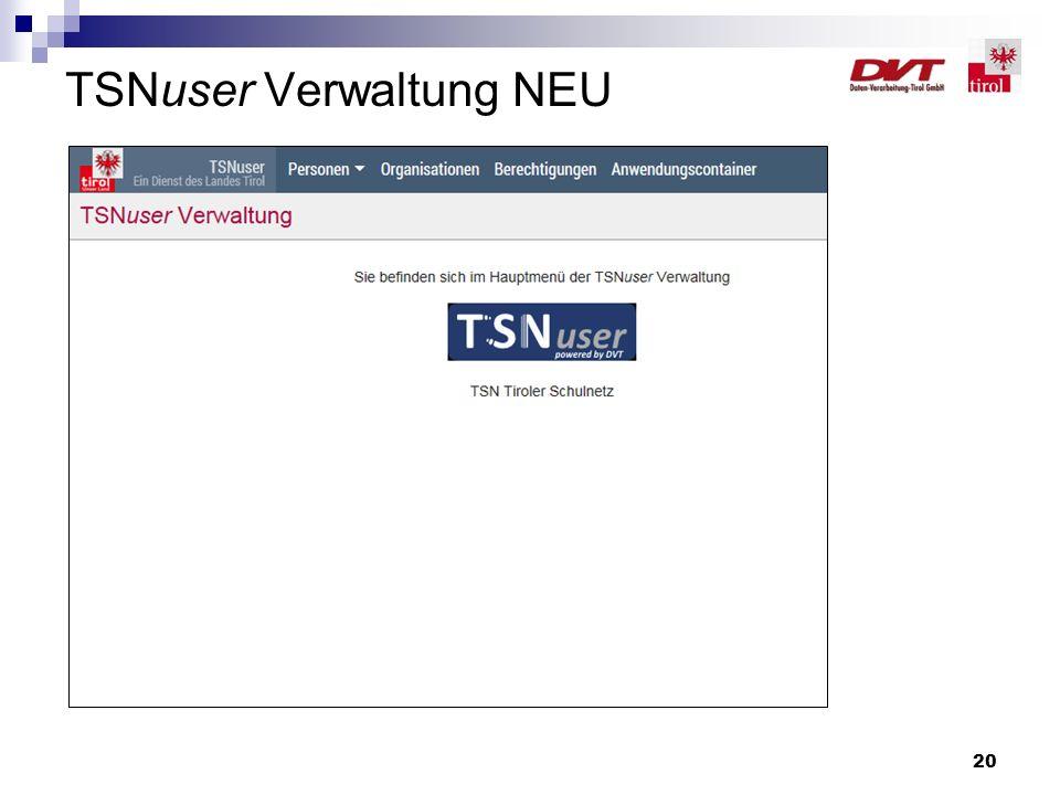 20 TSNuser Verwaltung NEU