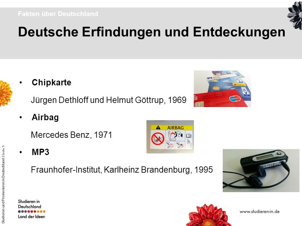 Studieren und Promovieren in Deutschland | Seite 5 Deutsche Erfindungen und Entdeckungen Fakten über Deutschland Chipkarte Jürgen Dethloff und Helmut