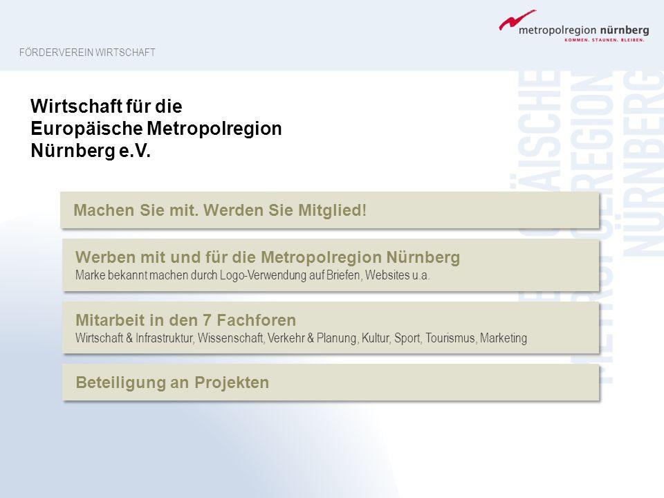 Werben mit und für die Metropolregion Nürnberg Marke bekannt machen durch Logo-Verwendung auf Briefen, Websites u.a. Werben mit und für die Metropolre