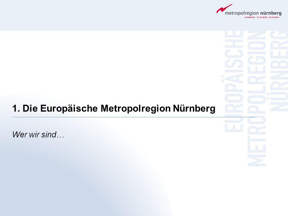 1. Die Europäische Metropolregion Nürnberg Wer wir sind…