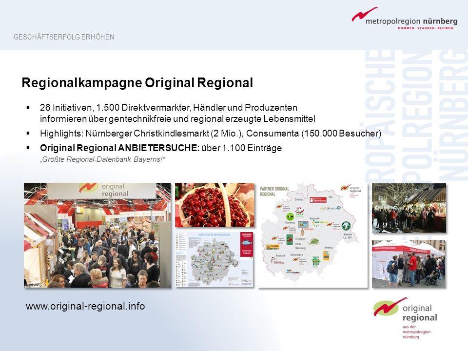 Regionalkampagne Original Regional  26 Initiativen, 1.500 Direktvermarkter, Händler und Produzenten informieren über gentechnikfreie und regional erz