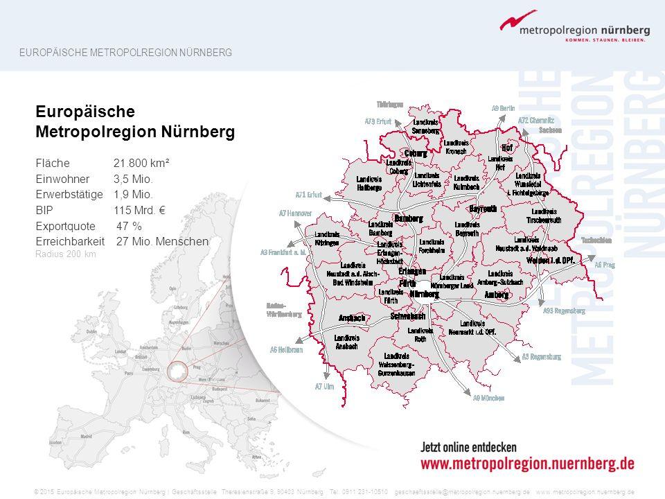 © 2015 Europäische Metropolregion Nürnberg | Geschäftsstelle Theresienstraße 9, 90403 Nürnberg Tel. 0911 231-10510 geschaeftsstelle@metropolregion.nue