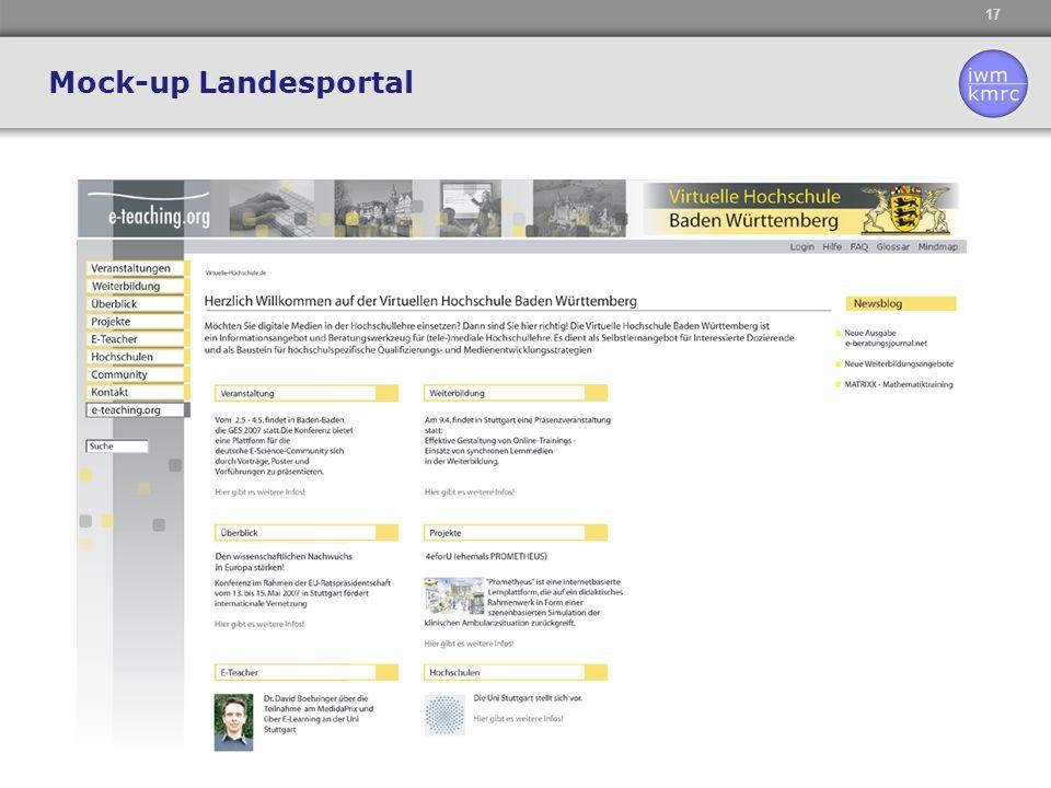 17 Mock-up Landesportal