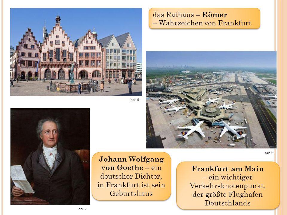 Frankfurt am Main – ein wichtiger Verkehrsknotenpunkt, der größte Flughafen Deutschlands obr.