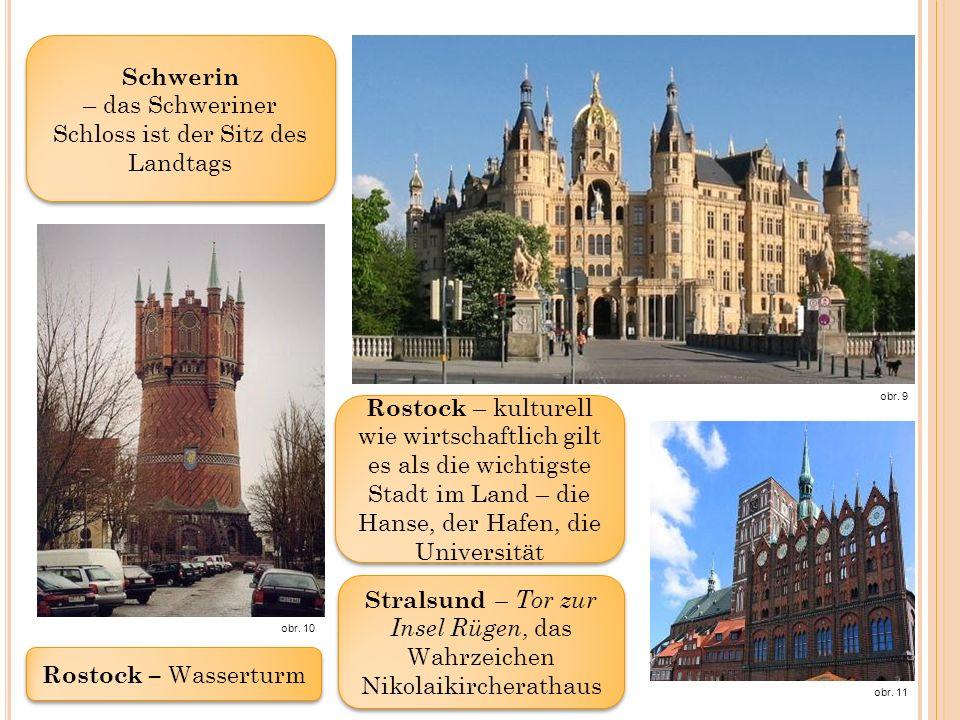 Schwerin – das Schweriner Schloss ist der Sitz des Landtags obr.