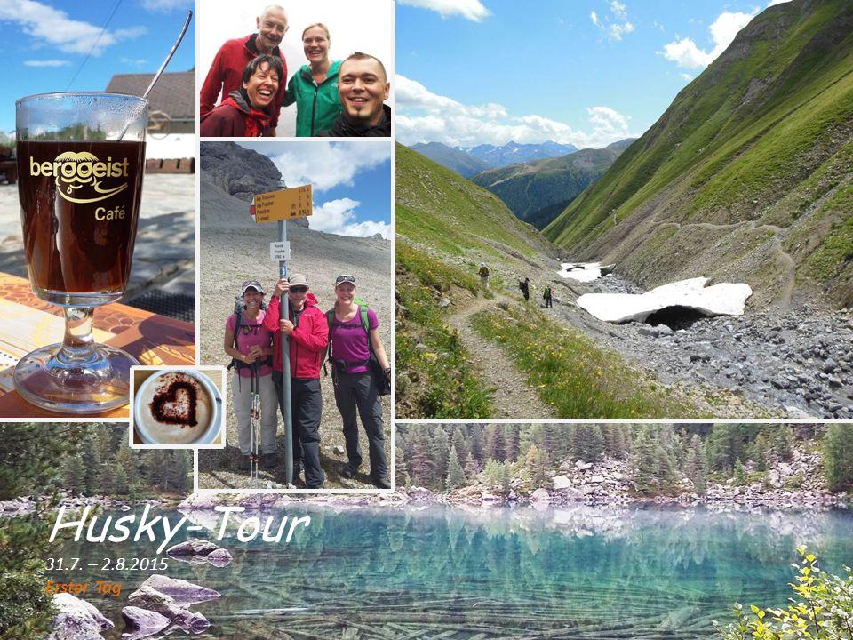 Husky-Tour 31.7. – 2.8.2015 Erster Tag
