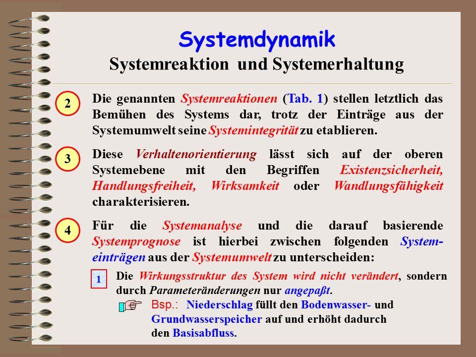 Die genannten Systemreaktionen (Tab. 1) stellen letztlich das Bemühen des Systems dar, trotz der Einträge aus der Systemumwelt seine Systemintegrität