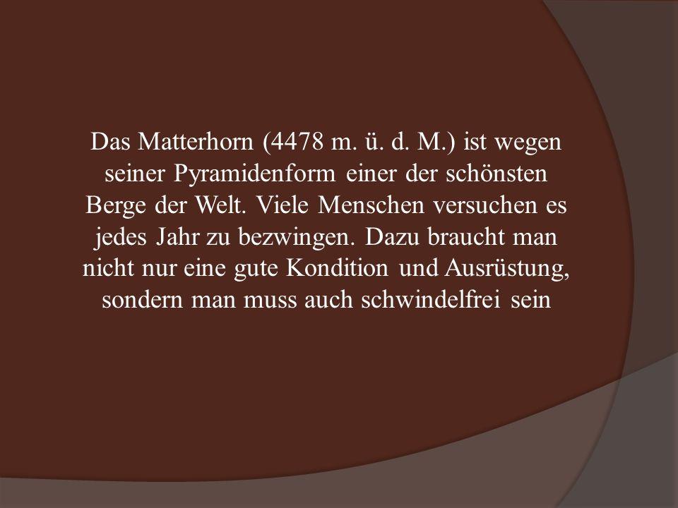 Das Matterhorn (4478 m. ü. d.