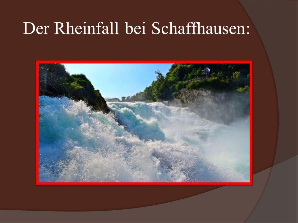 Der Rheinfall bei Schaffhausen: