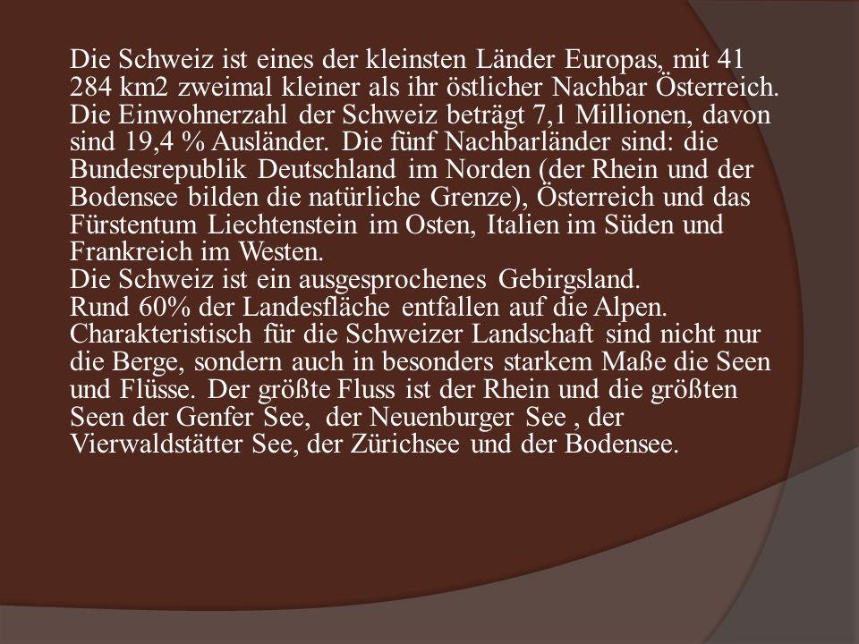 Lage der Schweiz in Europa