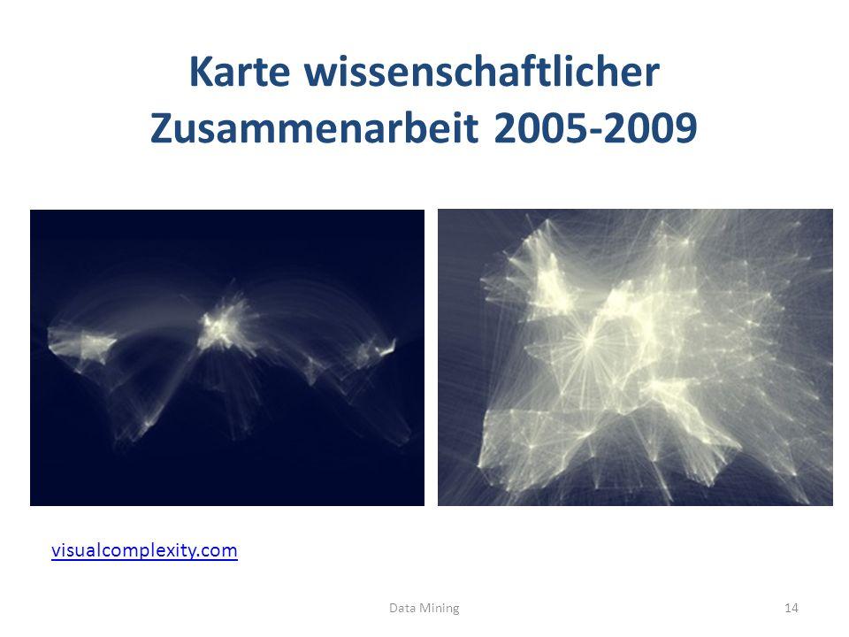 Karte wissenschaftlicher Zusammenarbeit 2005-2009 Data Mining14 visualcomplexity.com