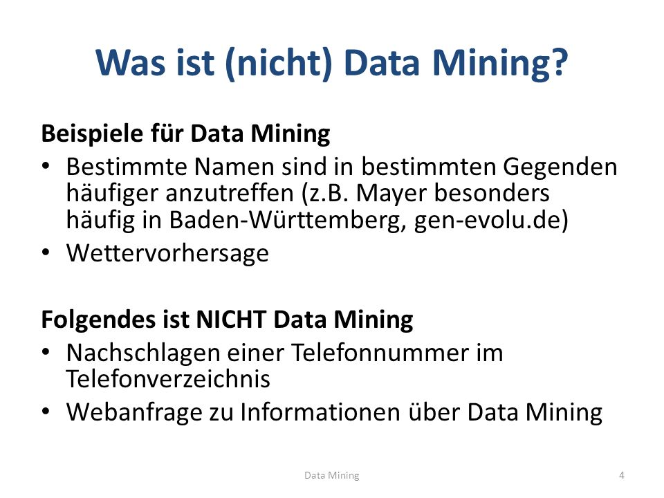 KLASSIFIKATION Data Mining35