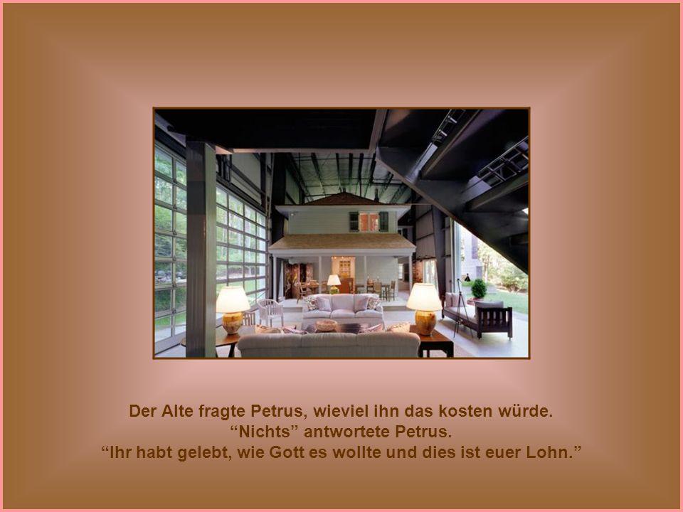 Er führt sie in eine luxuriöse Villa, ausgestattet mit wunderschönen Möbeln, sowie einer Küche mit modernsten Geräten.