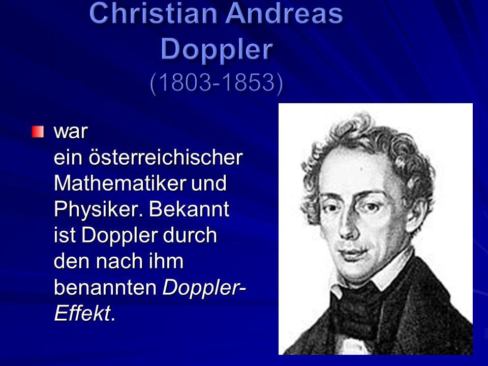 war ein österreichischer Mathematiker und Physiker.