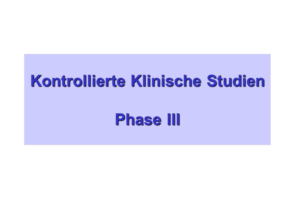 Kontrollierte Klinische Studien Phase III