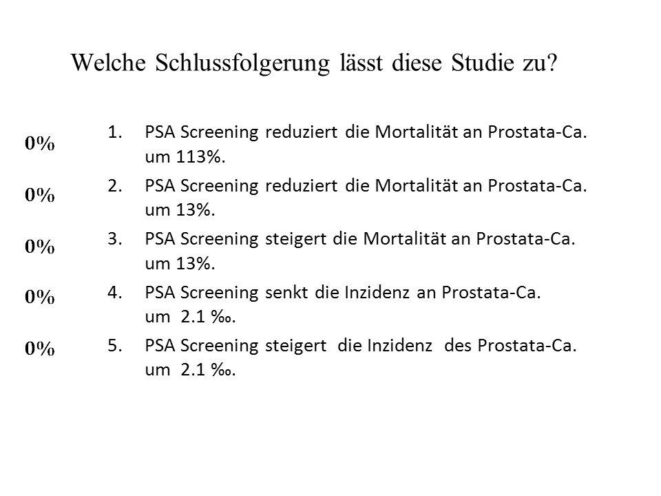 Welche Schlussfolgerung lässt diese Studie zu.