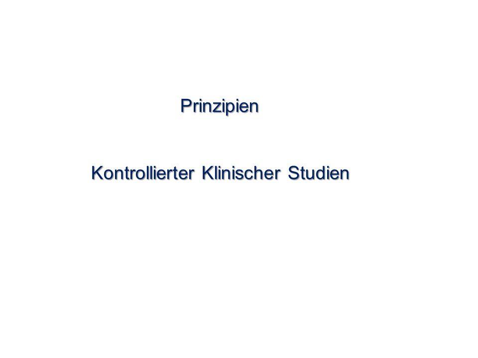 Prinzipien Kontrollierter Klinischer Studien