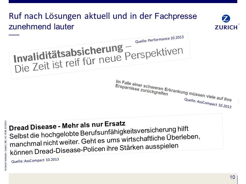 10 Ruf nach Lösungen aktuell und in der Fachpresse zunehmend lauter Quelle: AssCompact 10.2013 Quelle: Performance 10.2013 Dread Disease - Mehr als nu