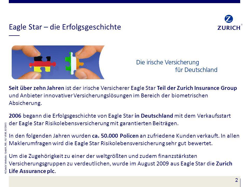 2 Eagle Star – die Erfolgsgeschichte Seit über zehn Jahren ist der irische Versicherer Eagle Star Teil der Zurich Insurance Group und Anbieter innovat