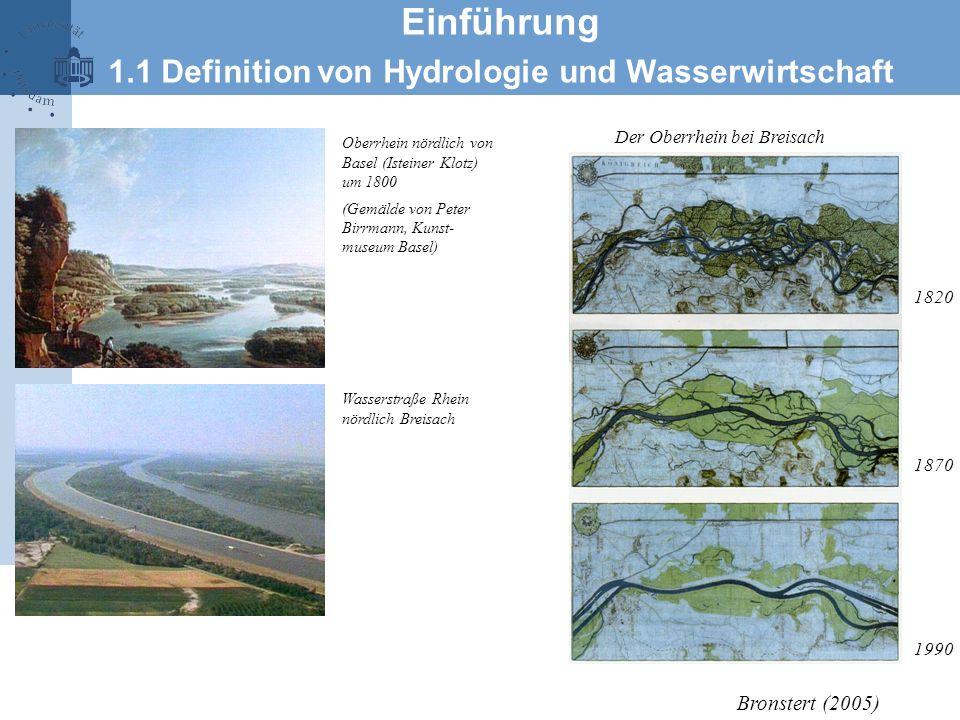 1820 1870 1990 Der Oberrhein bei Breisach Oberrhein nördlich von Basel (Isteiner Klotz) um 1800 (Gemälde von Peter Birrmann, Kunst- museum Basel) Wass
