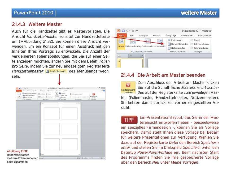 Aufgabe: Arbeiten am Folienmaster Master Erkläre in einer PP-Präsentation allgemein, wozu die Masterfunktion in PowerPoint dient.