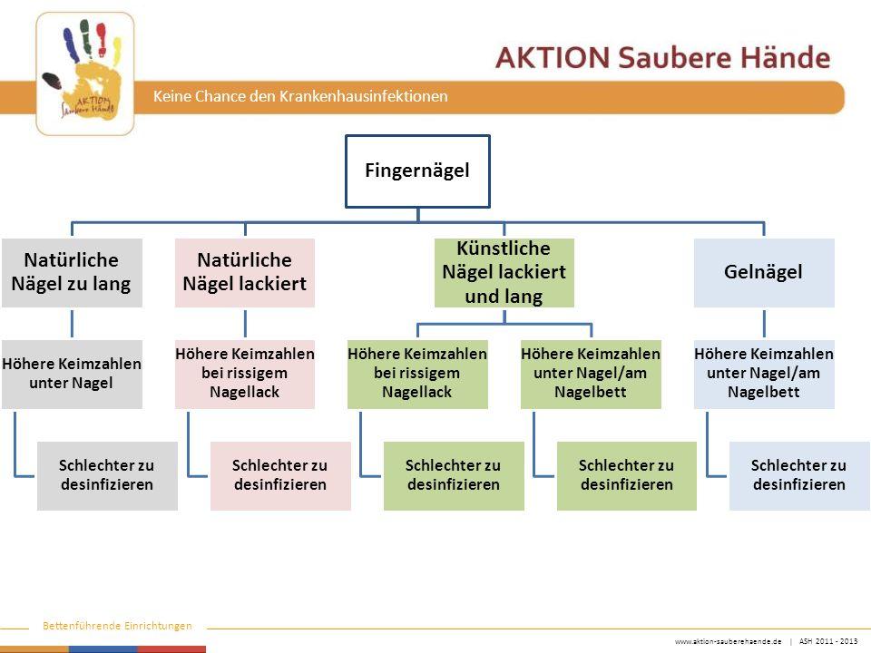 www.aktion-sauberehaende.de   ASH 2011 - 2013 Bettenführende Einrichtungen Keine Chance den Krankenhausinfektionen Fingernägel Natürliche Nägel zu lan
