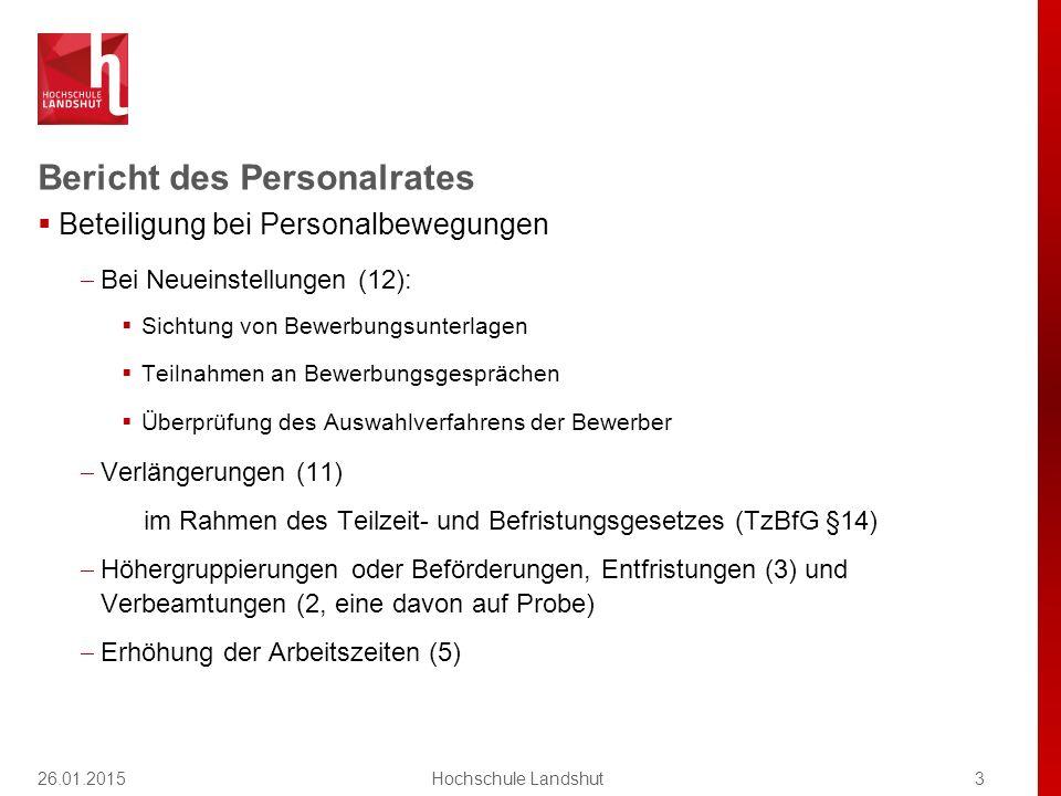Bericht des Personalrates  Beteiligung bei Personalbewegungen  Bei Neueinstellungen (12):  Sichtung von Bewerbungsunterlagen  Teilnahmen an Bewerb