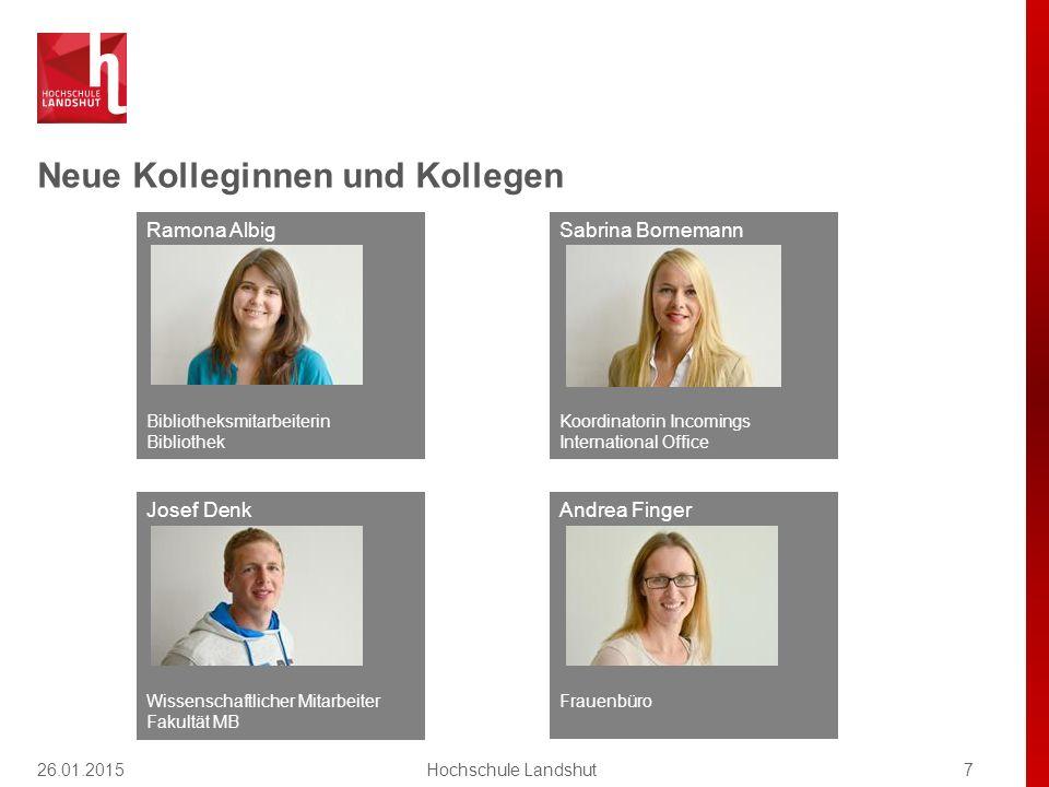 Neue Kolleginnen und Kollegen 7Hochschule Landshut Ramona Albig Bibliotheksmitarbeiterin Bibliothek Andrea Finger Frauenbüro Josef Denk Wissenschaftli