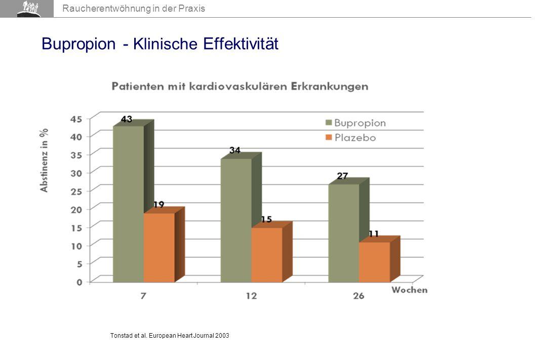 AIR 2007 Raucherentwöhnung in der Praxis Bupropion - Klinische Effektivität Tonstad et al.