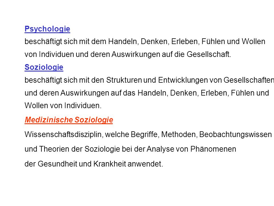Einführung in die Medizinische Soziologie und Public Health Prof. H.W. Hense Institut für Epidemiologie und Sozialmedizin Universitätsklinikum Münster