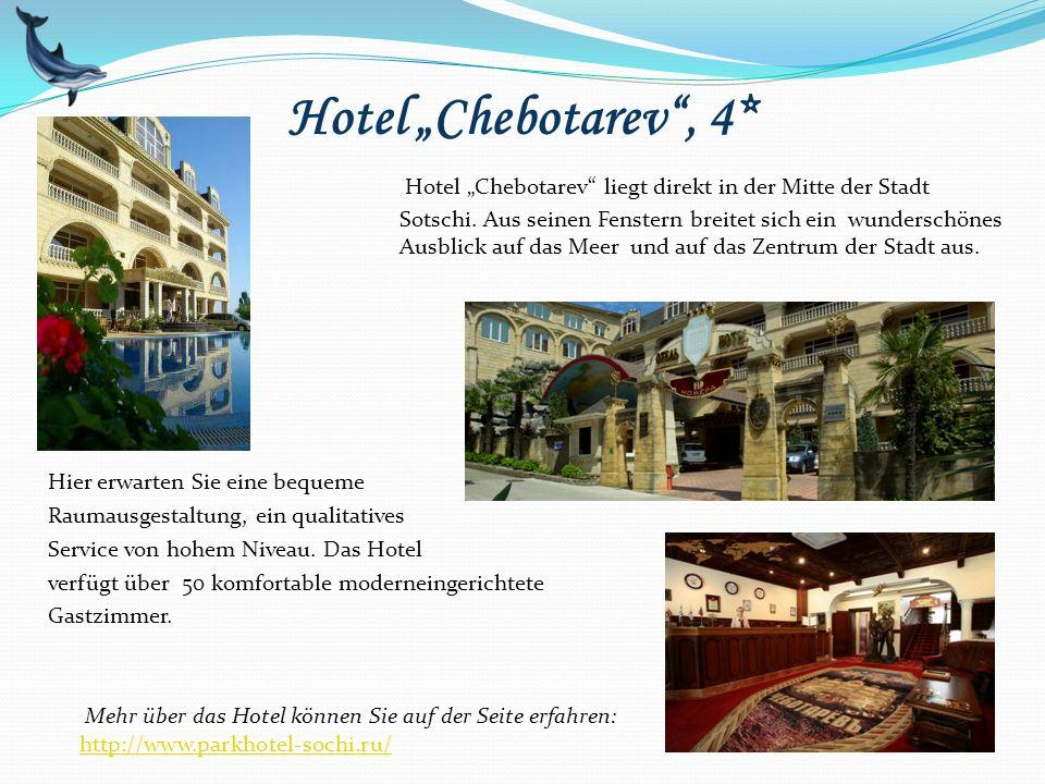 """Hotel """"Chebotarev"""", 4* Hier erwarten Sie eine bequeme Raumausgestaltung, ein qualitatives Service von hohem Niveau. Das Hotel verfügt über 50 komforta"""