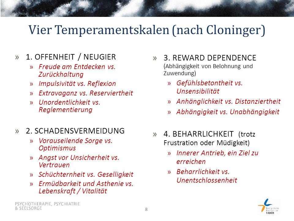 88 Vier Temperamentskalen (nach Cloninger) »3. REWARD DEPENDENCE (Abhängigkeit von Belohnung und Zuwendung) »Gefühlsbetontheit vs. Unsensibilität »Anh