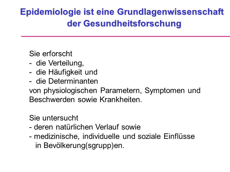 Epidemiologische Studienformen I Vorsicht beim sog.