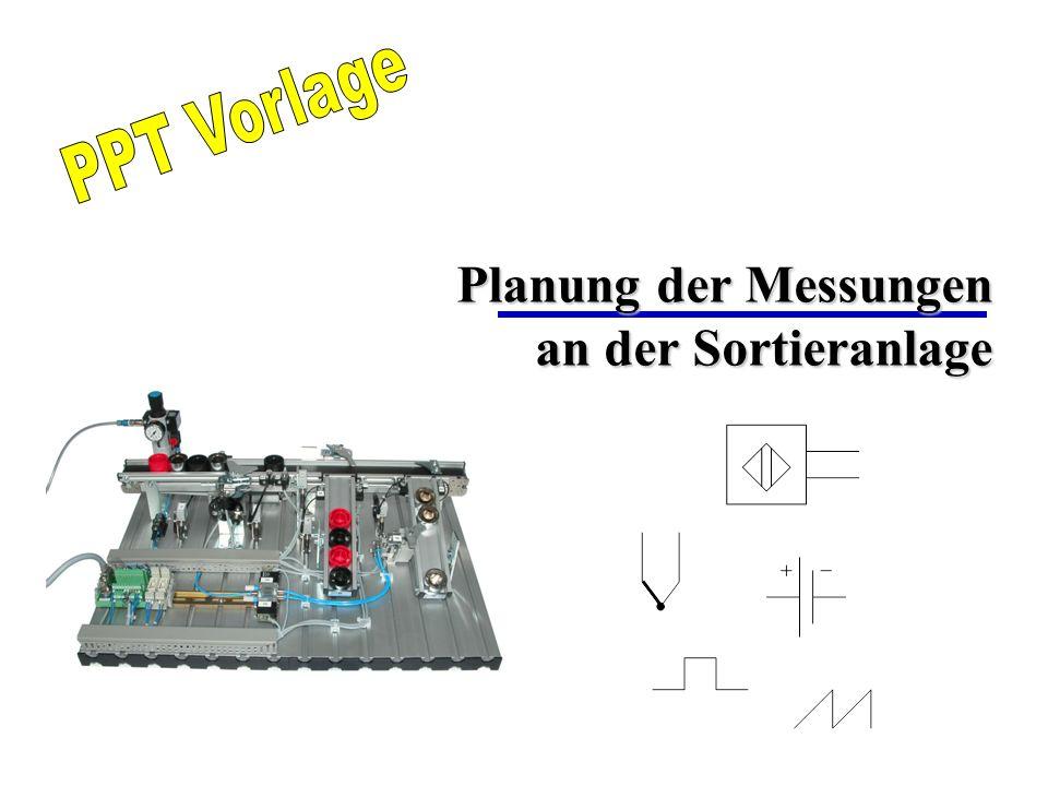Planung der Messungen an der Sortieranlage