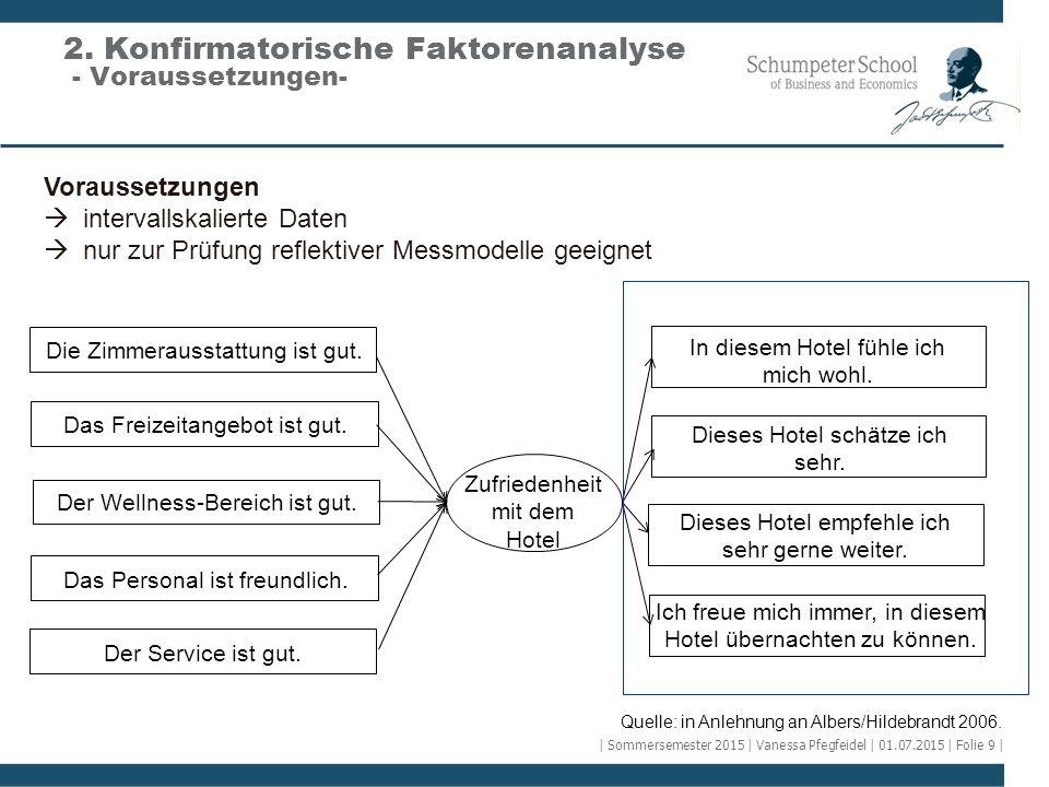 Quelle: in Anlehnung an Albers/Hildebrandt 2006. Voraussetzungen  intervallskalierte Daten  nur zur Prüfung reflektiver Messmodelle geeignet Die Zim