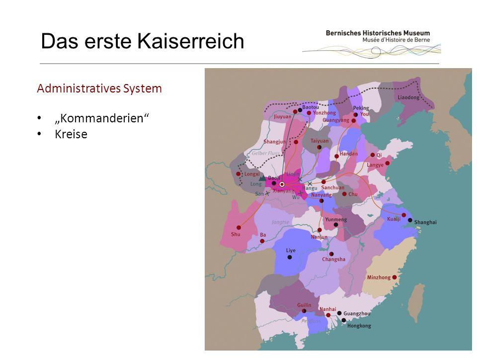 """Das erste Kaiserreich """"Kommanderien Kreise Administratives System"""