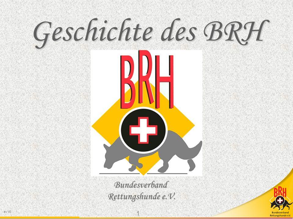 Geschichte des BRH Bundesverband Rettungshunde e.V. 1 ev15