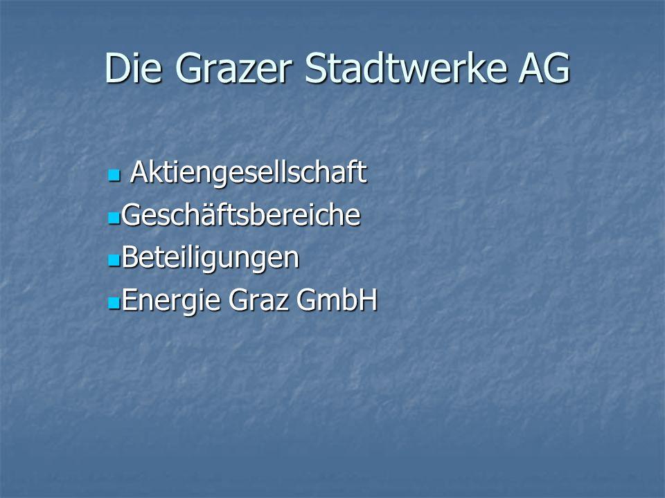 Die Grazer Stadtwerke AG Die Grazer Stadtwerke AG Aktiengesellschaft Aktiengesellschaft Geschäftsbereiche Geschäftsbereiche Beteiligungen Beteiligunge