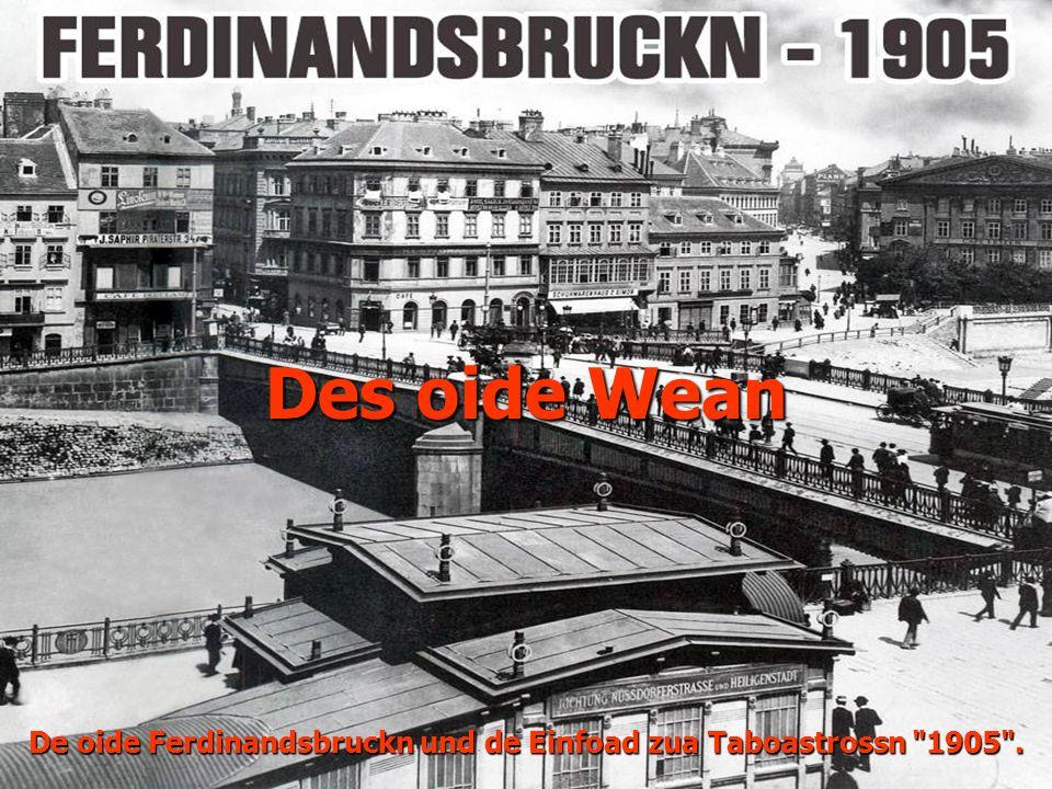 Des oide Wean De oide Ferdinandsbruckn und de Einfoad zua Taboastrossn 1905 .