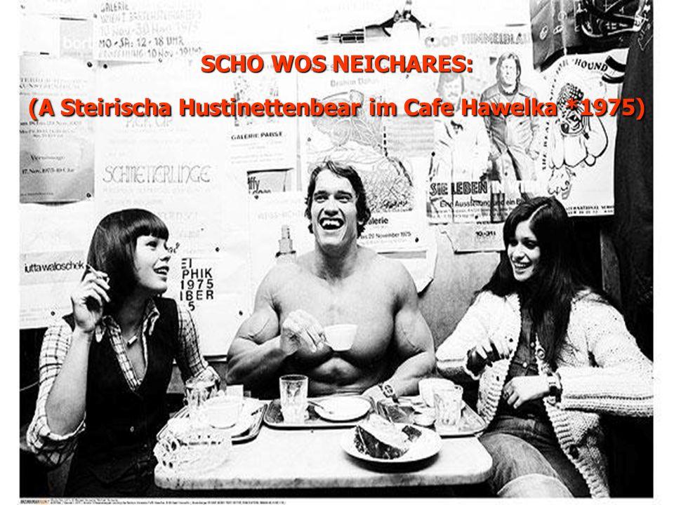 SCHO WOS NEICHARES: (A Steirischa Hustinettenbear im Cafe Hawelka *1975)