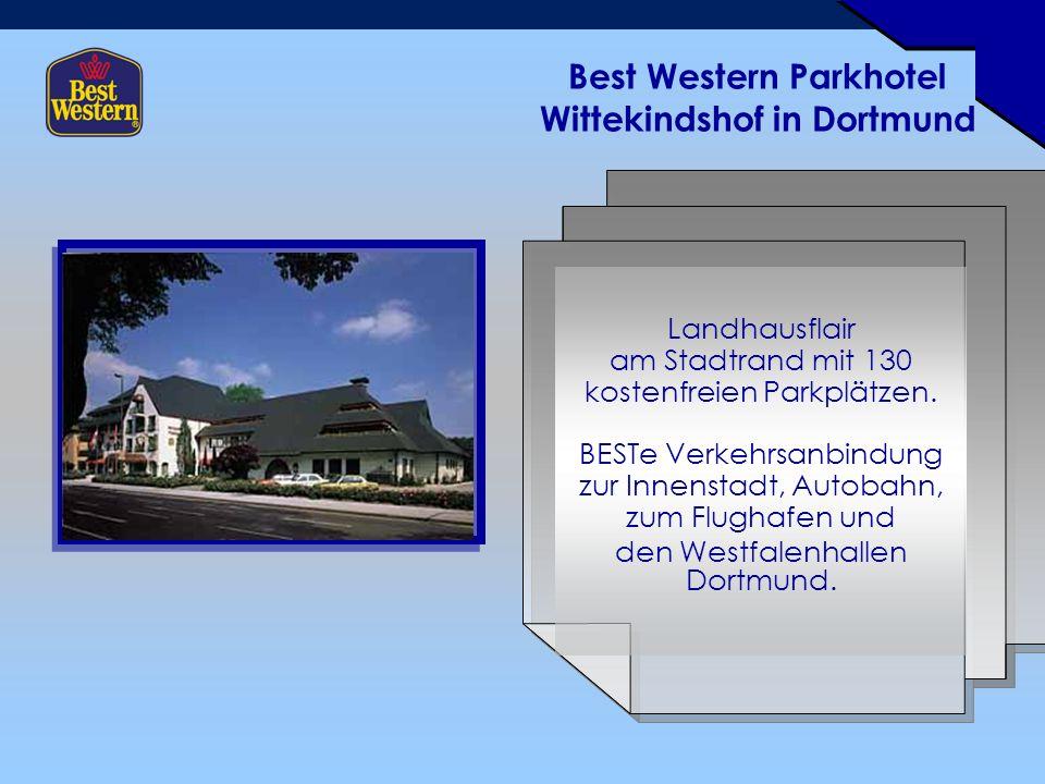 Best Western Parkhotel Wittekindshof in Dortmund Landhausflair am Stadtrand mit 130 kostenfreien Parkplätzen.
