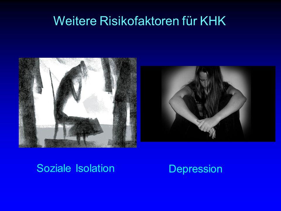 Soziale Isolation Depression Weitere Risikofaktoren für KHK