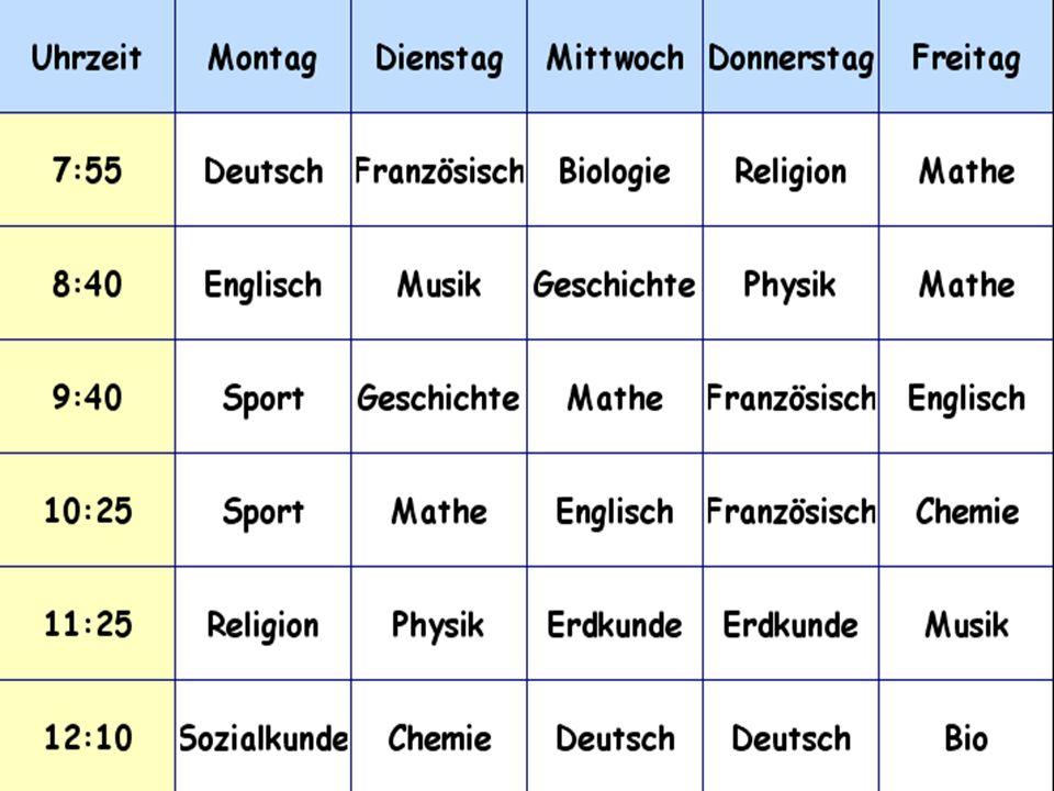  Mein Lieblingsfach ist Deutsch.