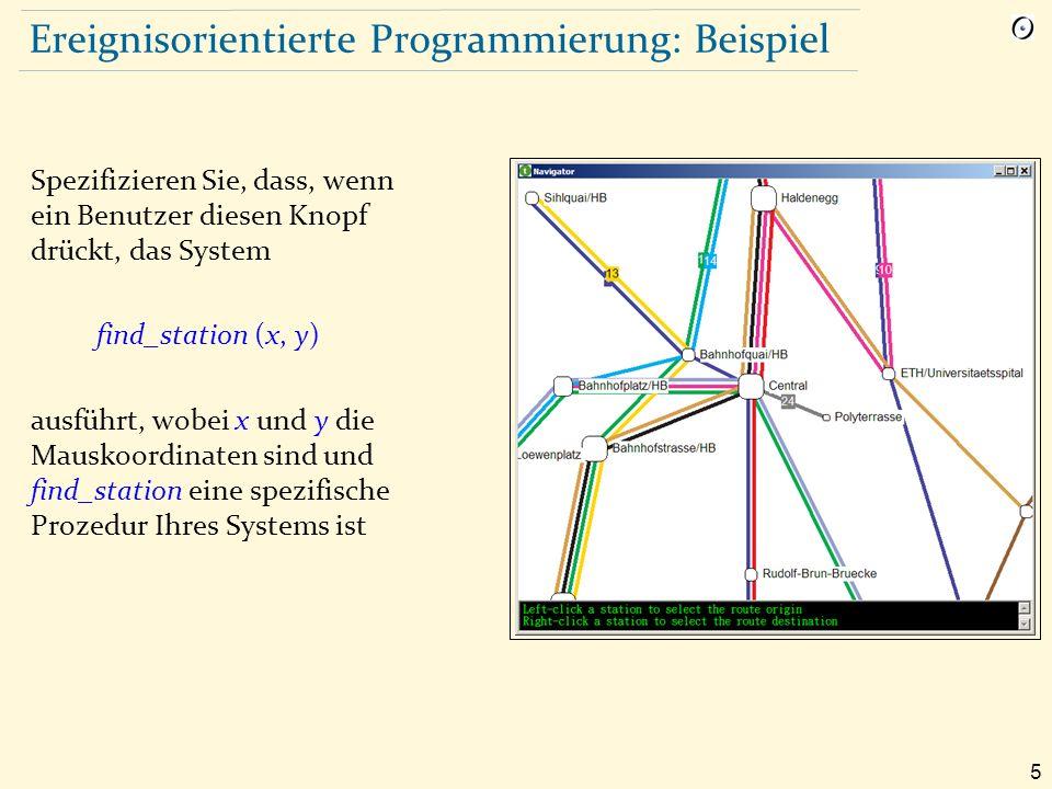 36 Beispiel mit Hilfe der Ereignis-Bibliothek Die Subskribenten (Beobachter) registrieren sich bei Ereignissen: Zurich_map.